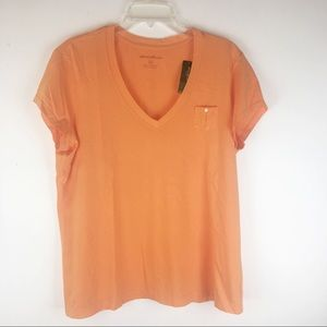 Eddie Bauer short sleeve v neck t shirt